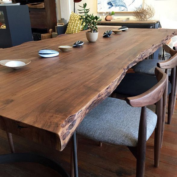 Slab Dining Room Table: Live And Natural Edge Wood Slabs